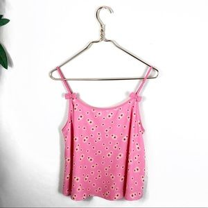 E/M • Pink Swing Floral Camisole w/Bow Detailing.
